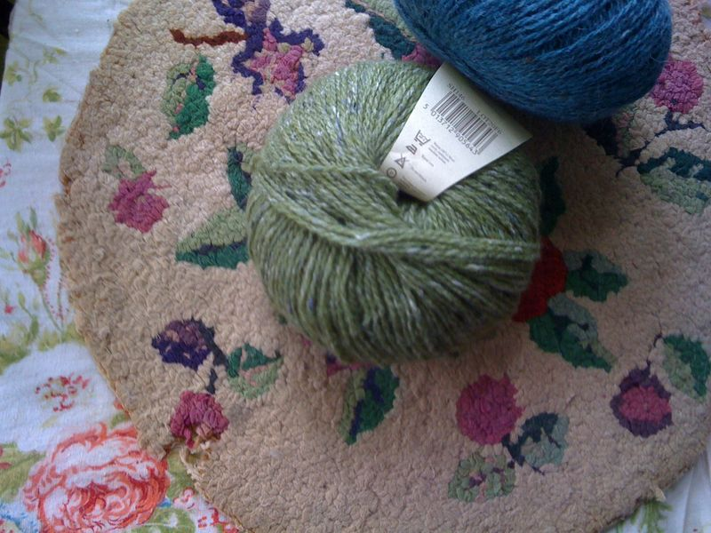 Yarn on vintage hooked round