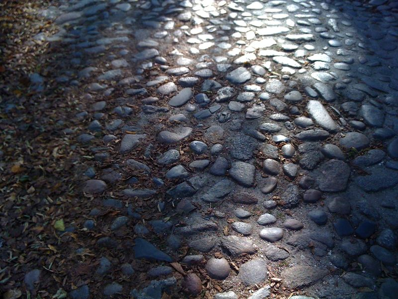 Cobblestones on main st.
