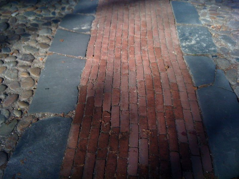 Cobblestones on nantucket