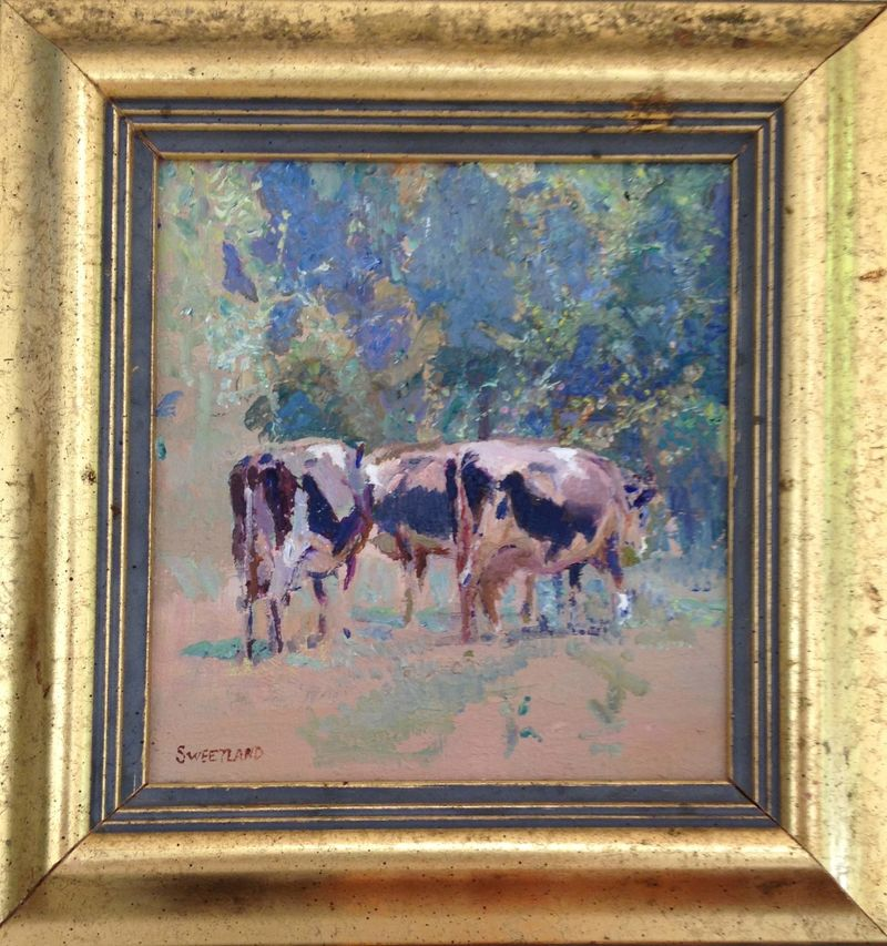 Sweetland painting cows