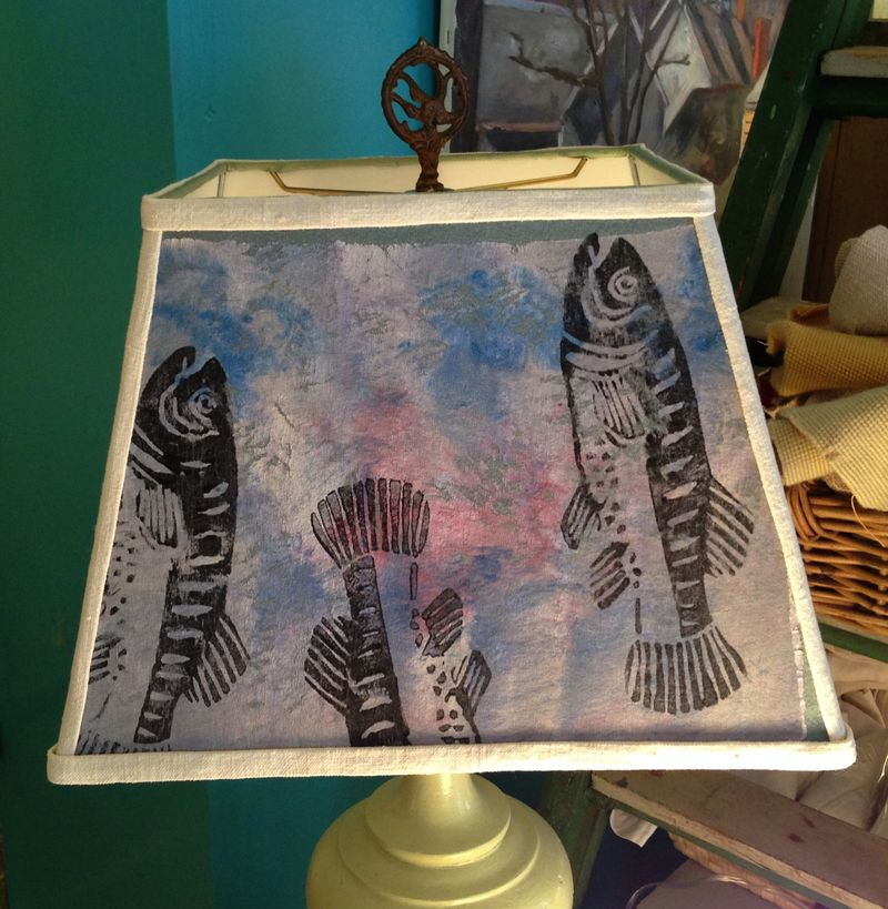 Blue fish rectangle shade