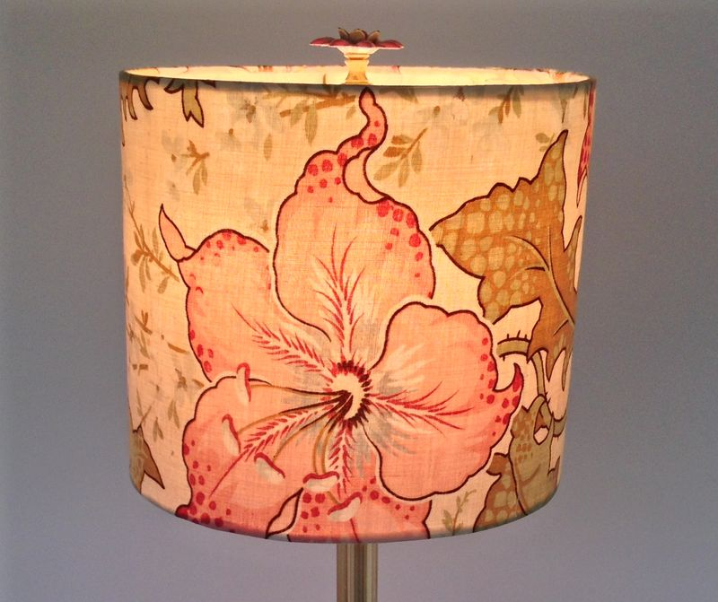 Lily Drum in Vintage French Fabric