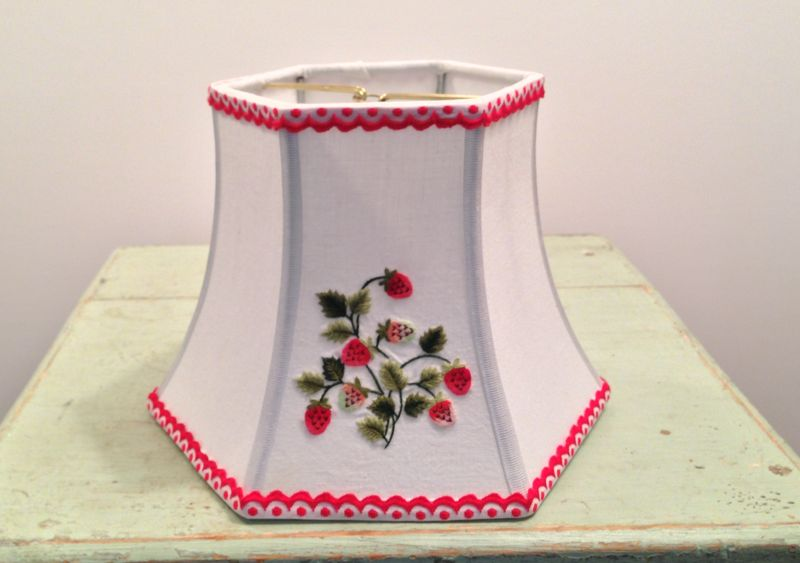 Strawberry hex bell lampshade