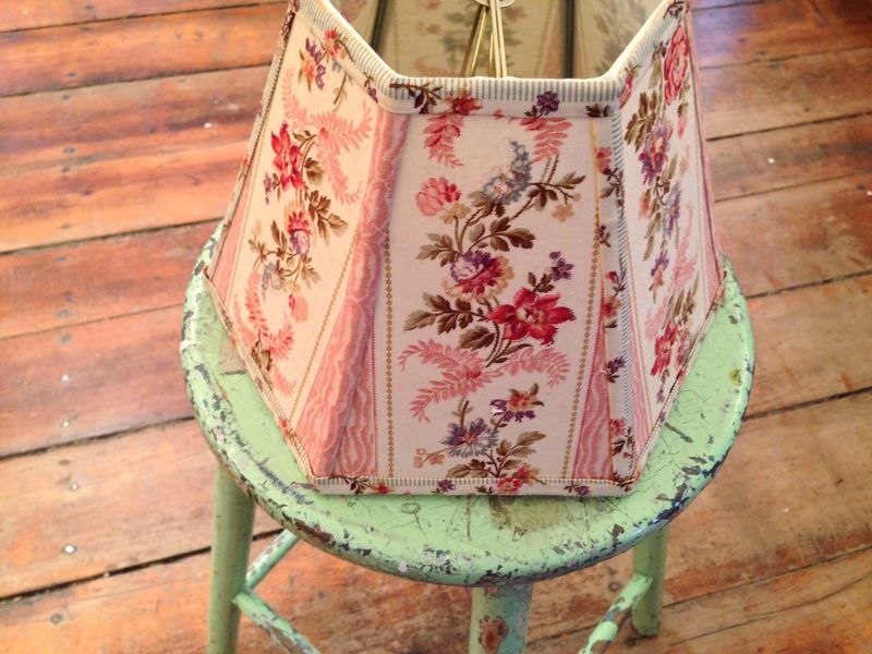 Lampshade vintage french fabric